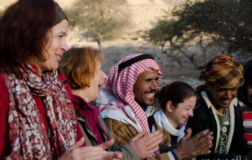 Bedouins Tourists Meeting Encounter